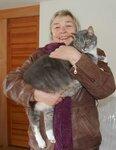 Людмила Тобольская и ее кот Смокки