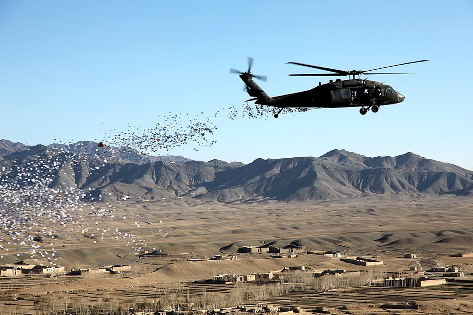 leaflet drop afghanistan