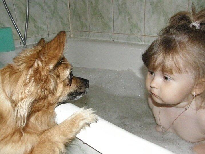 Сейчас моя очередь, купаться!!!