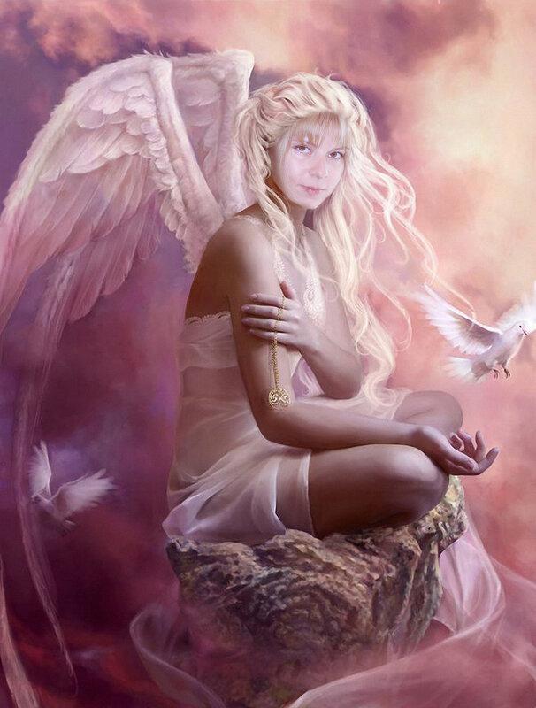 """Предпросмотр схемы вышивки  """"ангел """" ."""