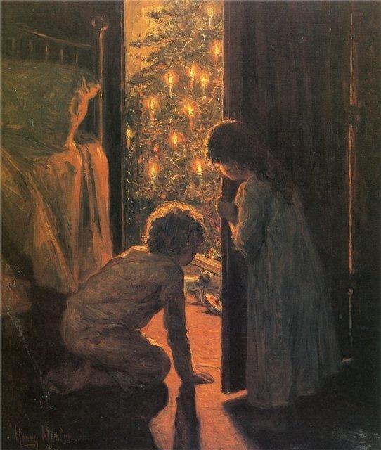 Анри Мослер Рождественское утро 1916 г.