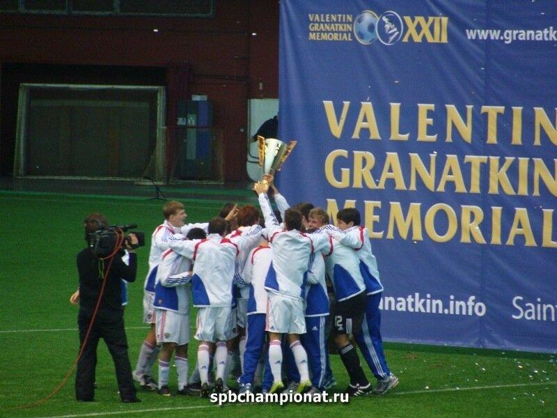 Сборная России - победитель XXII Международного юношеского турнира по футболу памяти первого вице-президента ФИФА Валентина Гранаткина.