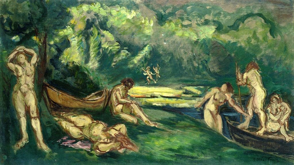 Emile-Othon Friesz - Bathers on the Banks of the River, 1945.jpeg