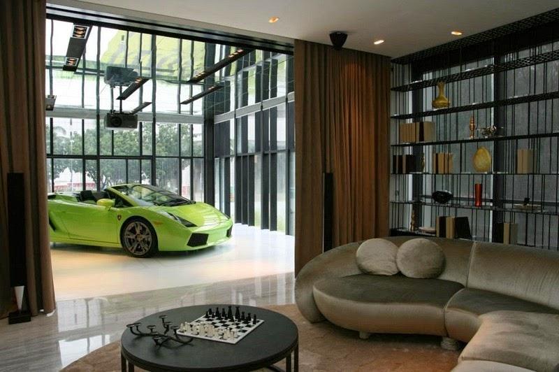 Роскошные апартаменты в Сингапуре с собственным гаражом (9 фото)