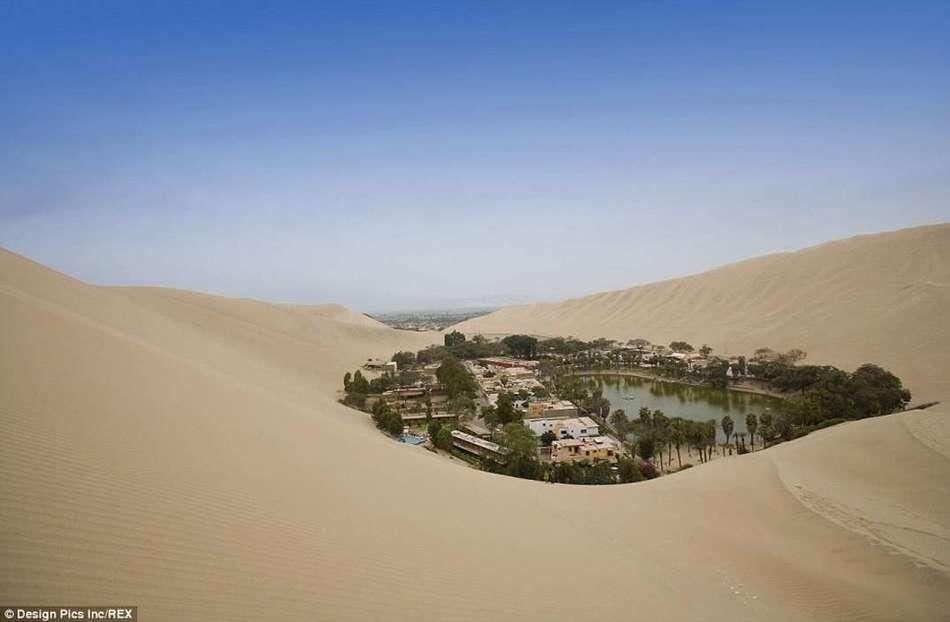 Удивительный город-оазис среди пустыни в Перу (12 фото)