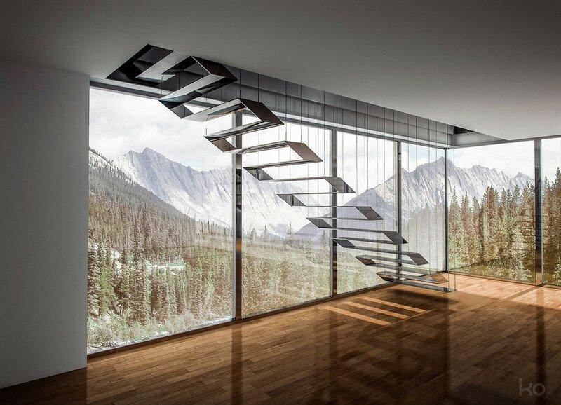 Лестница для дома на второй этаж дизайн фото 15