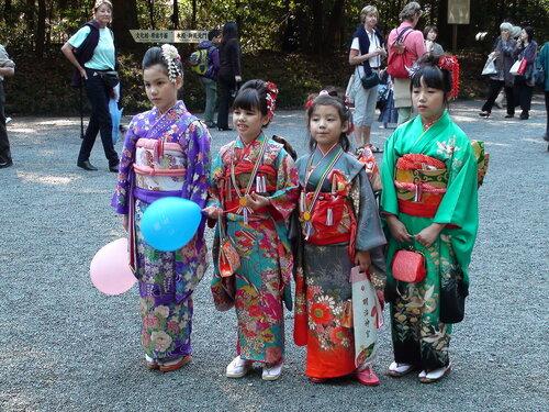 Сити-го-сан в Храме Мэйдзи-дзингу