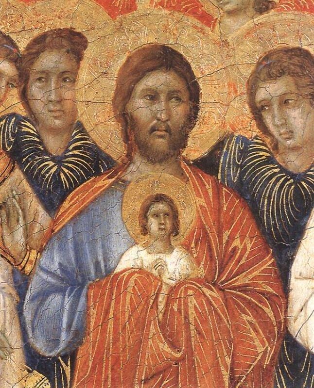 Дуччо. Христос с душой Богоматери.