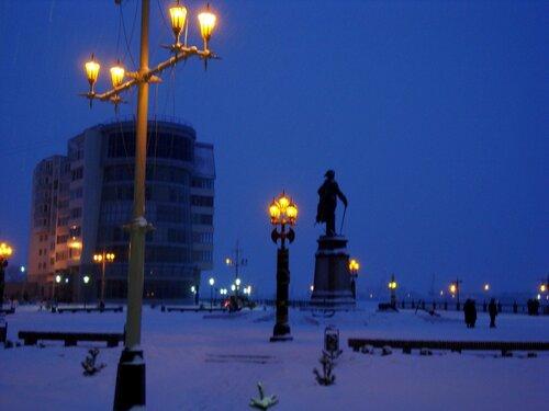 Астрахань, Новый Год-2009,площадь Петра Великого