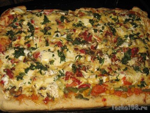 Пицца в духовке с дрожжевого теста рецепт