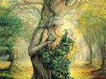 Дриада и дух дерева
