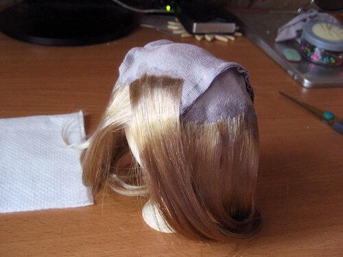 Как сделать парик для куклы с ушами