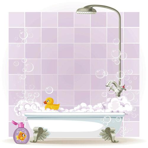 Foam filled bathtub on legs [преобразованный]