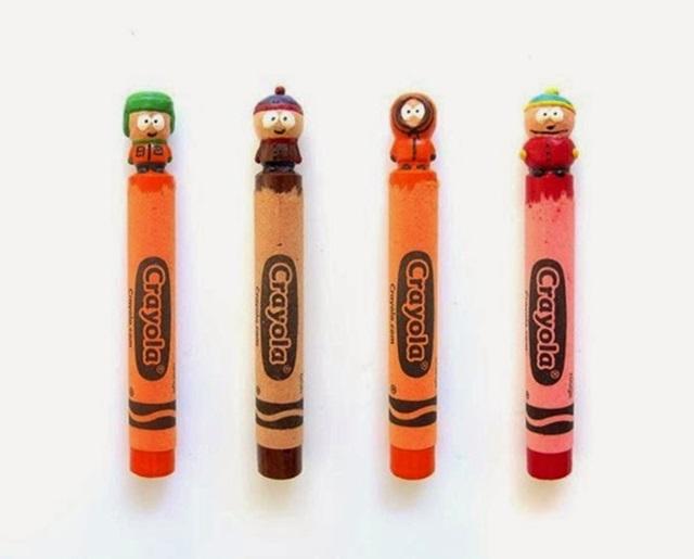 Известные персонажи, вырезанные на кончике карандашей 0 12d0fa 5141ca6a orig
