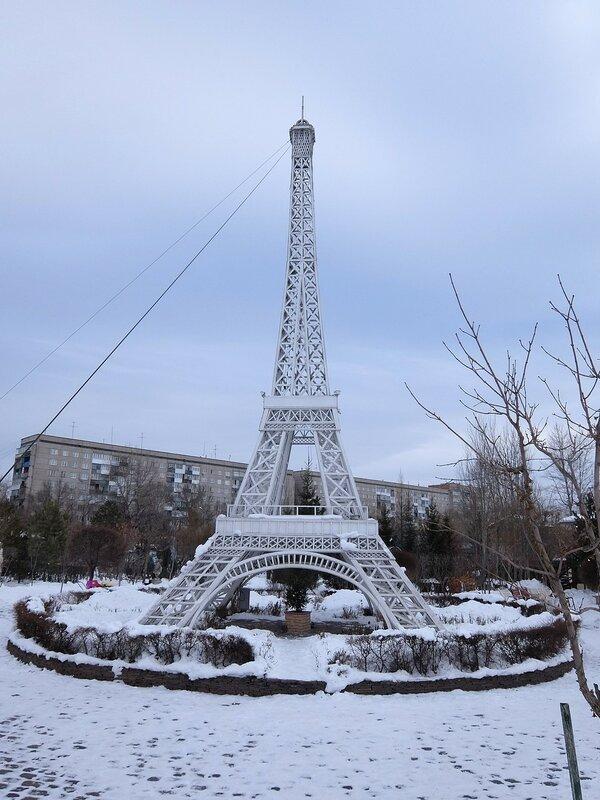 Абакан - Ландшафтный парк Сады мечты - Эйфелева башня