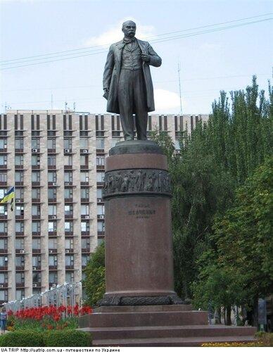 Памятник шевченко в донецке