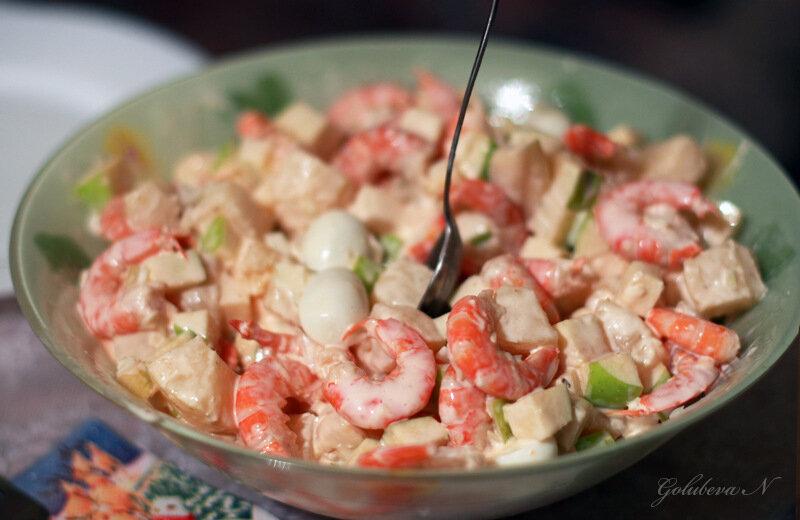 Салаты из морепродуктов рецепты на новый год