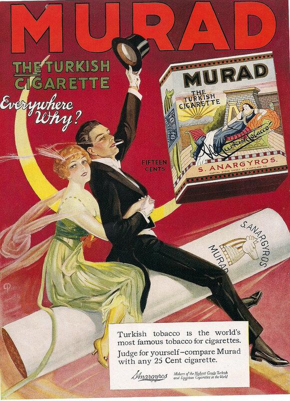 старинная реклама сигарет