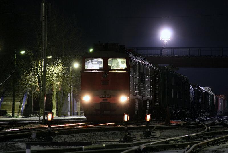 2ТЭ116-1552 на станции Новосокольники