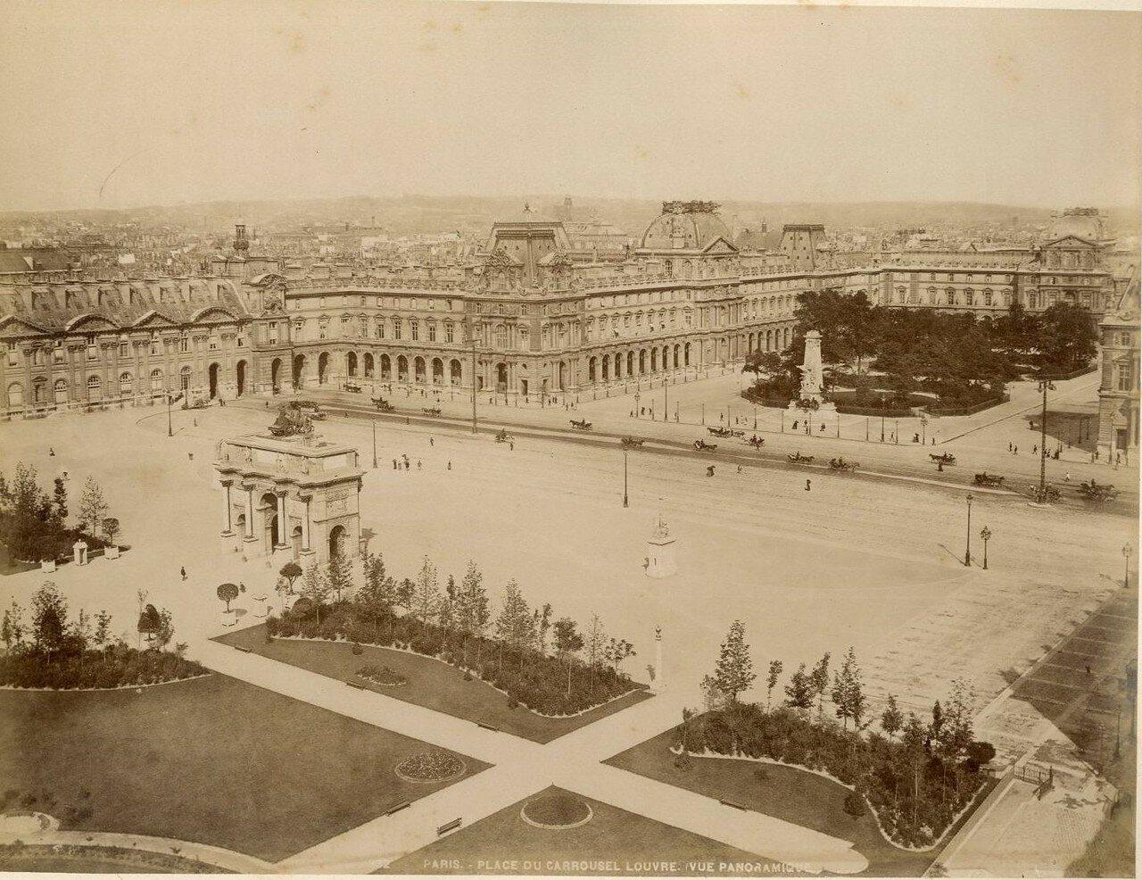 1880-е. Площадь Карузель и Лувр