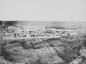 05. Вид русских казарм позади Редана 8 сен 1855