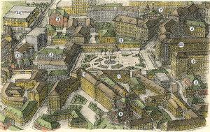Возможный вид Хитровской площади после воссоздания.