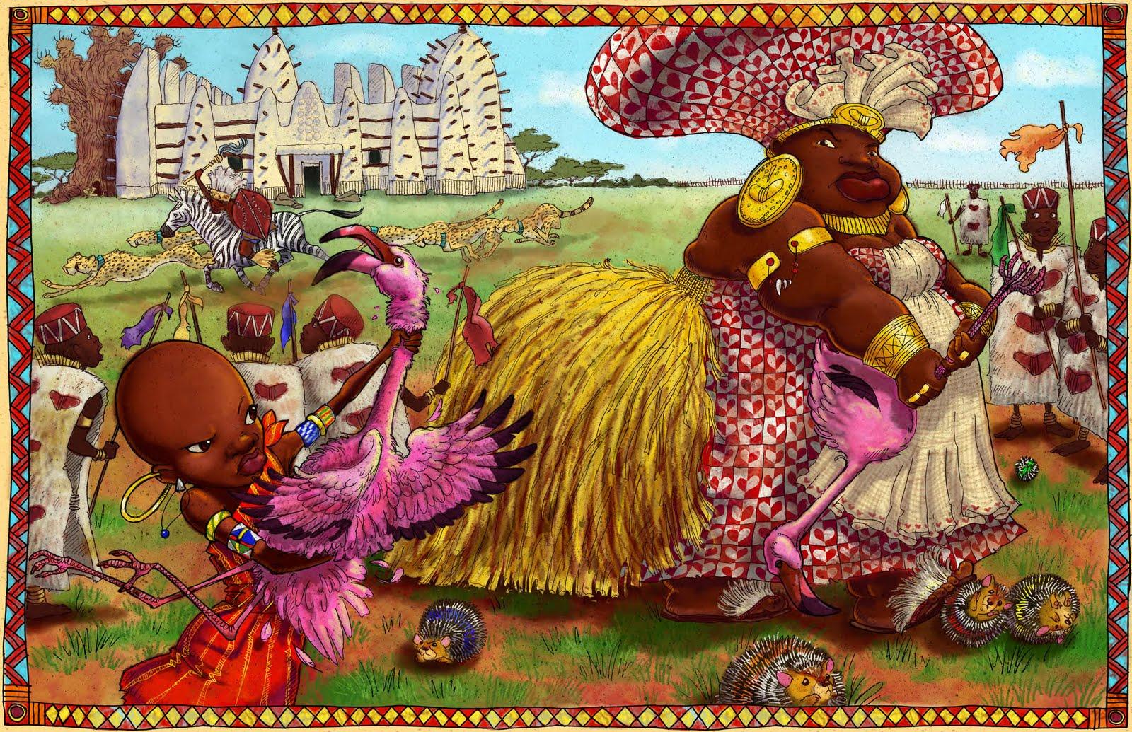 Африканская сказка в картинках