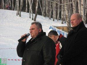 Приветствие участников лыжной гонки памяти К.С.Боярских