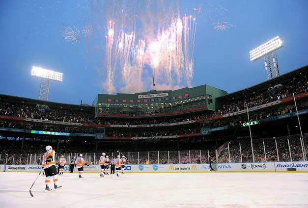 Салют в честь победы Boston Bruins
