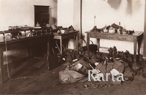 Кабинет химии Львовской Политехники после боев, 1918 г.
