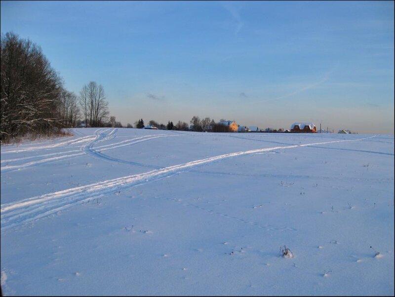 Зимнее поле близ Муракино