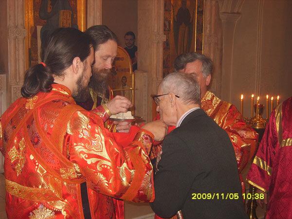 Причастие папы на Литургии св. Иакова