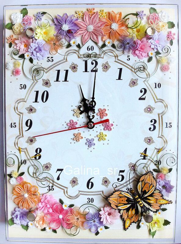 Часы с цветами своими руками 769