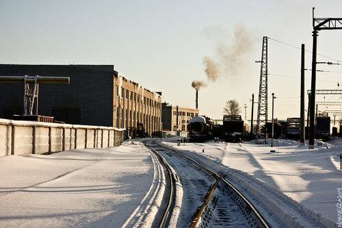 Зимний путь в депо