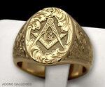 Современный перстень с масонской символикой.