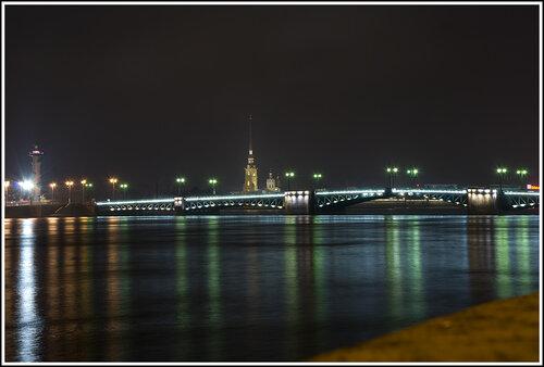 Дворцовый мост, Петропавловская крепость