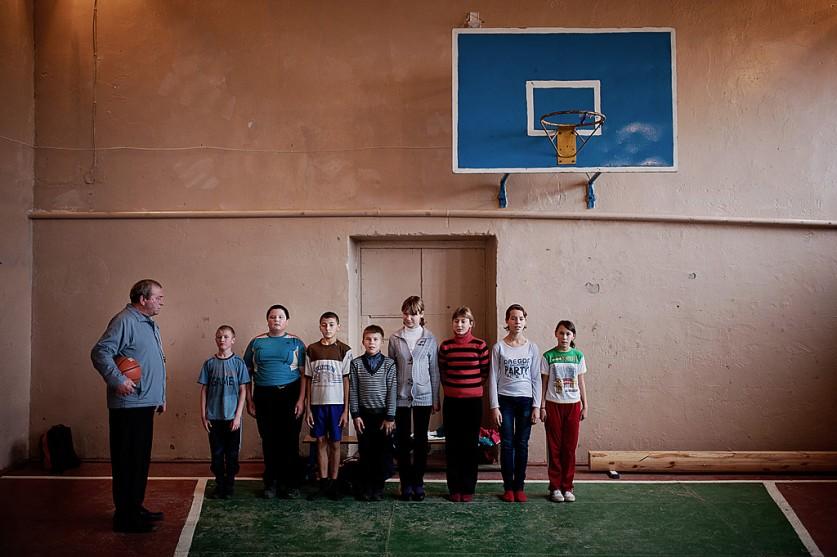 «Физкультура в одном из детских домов области. Я регулярно езжу туда снимать детей для базы усыновит
