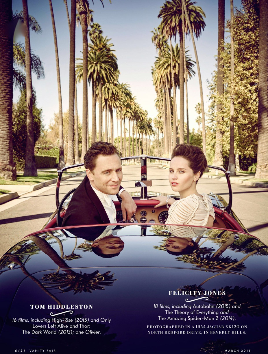 Лучшие британские актеры в проекте The 2015 Hollywood Portfolio by Jason Bell in Vanity Fair march 2015 - Том Хиддлстон и Фелисити Джонс / Tom Hiddleston and Felicity Jones