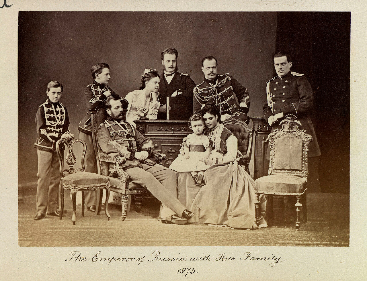 Александр II, император России (1818-1881) и его семья