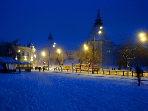 Астрахань, Новый Год-2009,кремль,Крымская башня