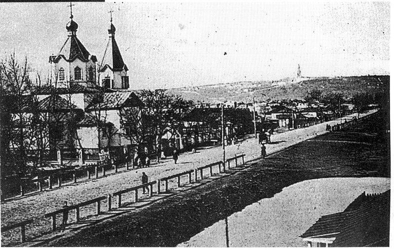 Николаевская церковь в Никольской Слободке на другой стороне Днепра