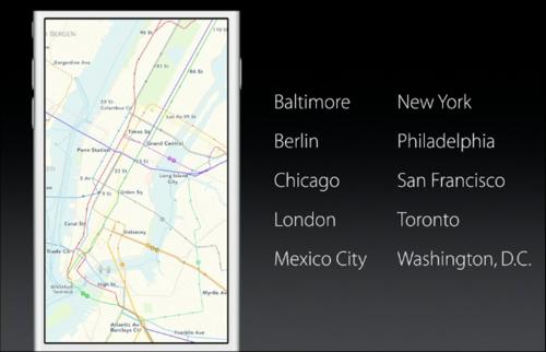 Apple покажет маршруты общественного транспорта и обновит локальный поиск