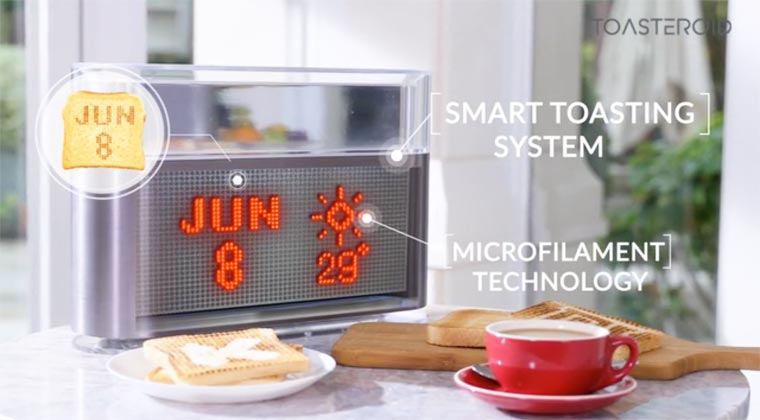 Toasteroid - The connected toaster that prints your toast for breakfast