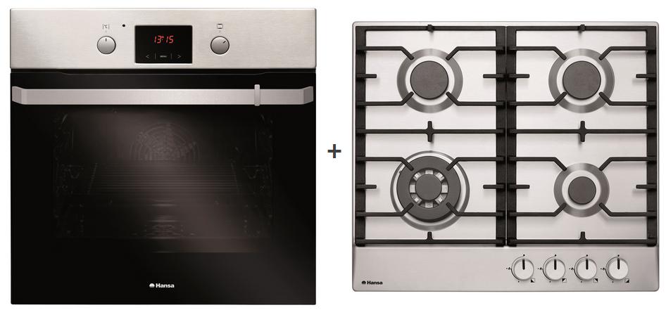комплект встройки: духовка и варочная с чугунными решетками Hansa Бытовая техника для кухни