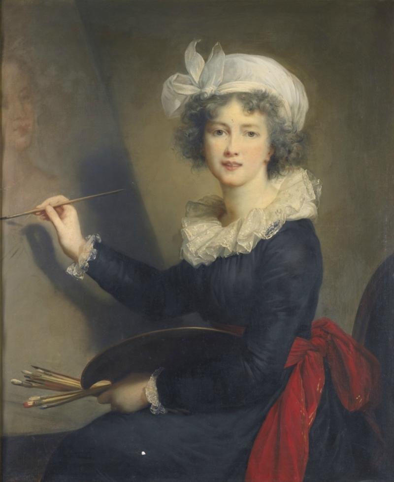 Автопортрет с палитрой, 1790 Галерея Уффици, Флоренция