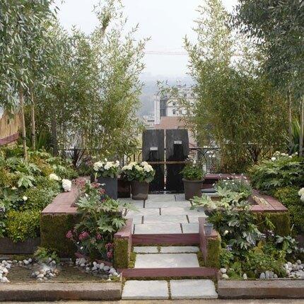 Сад в картире на балконе террасе