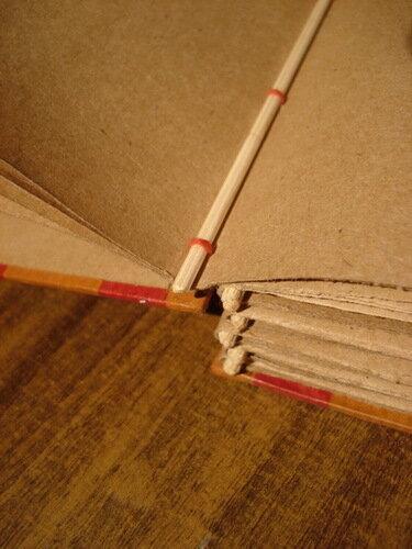 Binding for scrapbook.