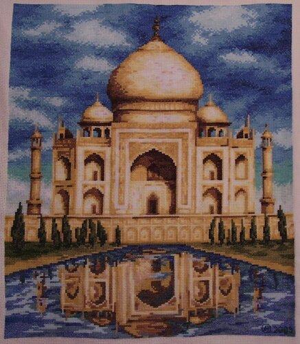 """Схема вышивки  """"Мечеть """": таблица цветов."""