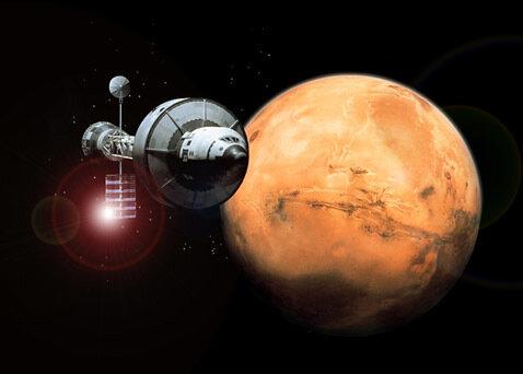 Полет к Марсу. Фото с сайта Мембрана.Ру