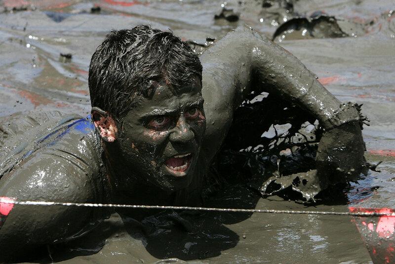 забег по грязи